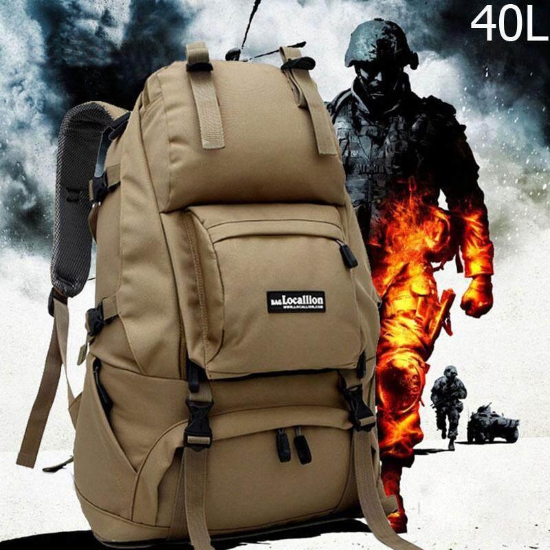 Locallion กระเป๋าเป้สำหรับเดินป่า 40l ไนลอนกันน้ำ กระเป๋าและเป้สะพายหลัง.