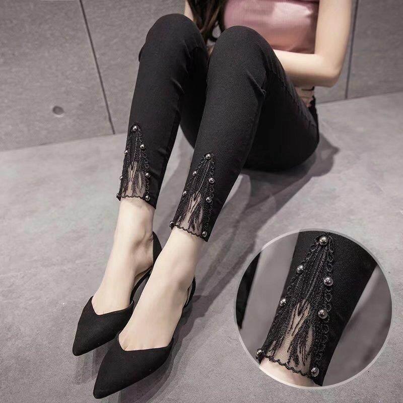 2018 model baru legging pakaian luar Terlihat Langsing Gaya Korea netral musim gugur musim dingin pensil Celana Pensil hitam model tipis musim semi celana wanita