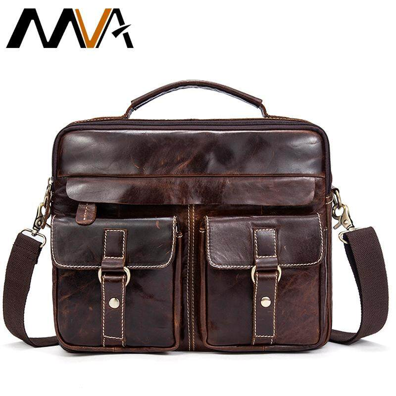 MVA Genuine Leather Men Bag Business Briefcase Messenger Handbags Men Crossbody Bags Men's Travel Laptop Bag