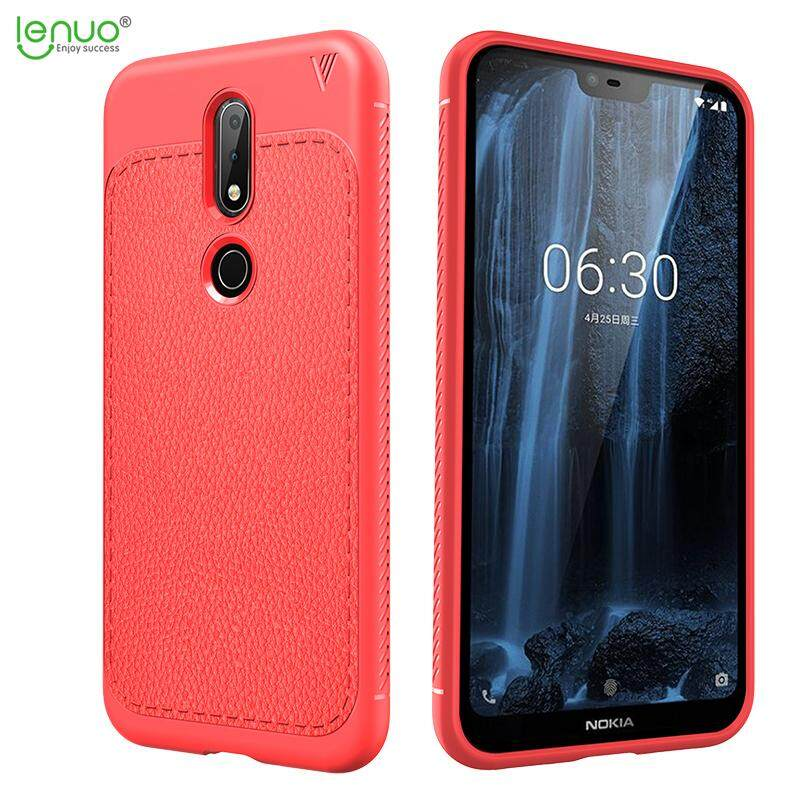 Nokia X6 case Lenuo Slim TPU Shock Absorption Anti-Scratches Flexible Soft Protective Case Cover