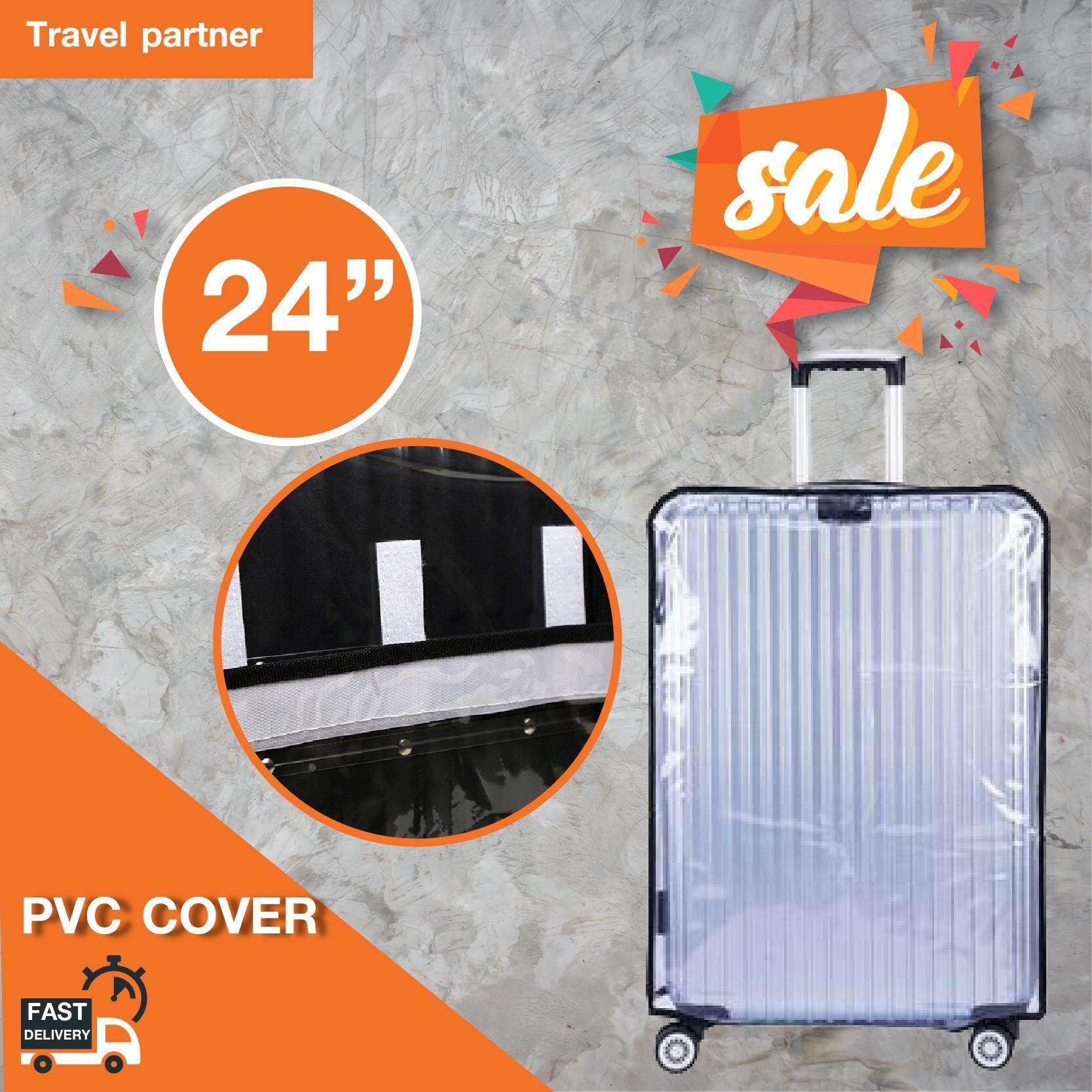 Travel Partner พลาสติกใสคลุมกระเป๋าเดินทาง 20-29 นิ้ว กันเปื้อน กันริ้วรอยและกันน้ำ Pvc Cover Suitcase.