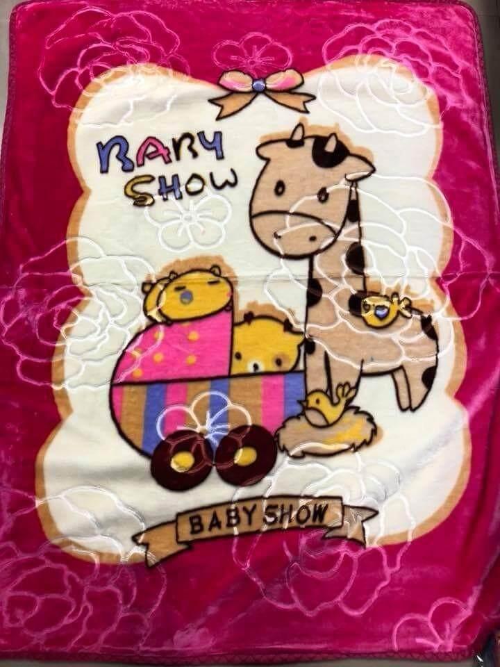 ผ้าห่มเด็ก ผ้ากำมะหยี่ เนื้อหนา นุ่ม นิ่มมากๆ ลายสวย น่ารักสุดๆ ขนาด105*125 Cm. 1ผืน.