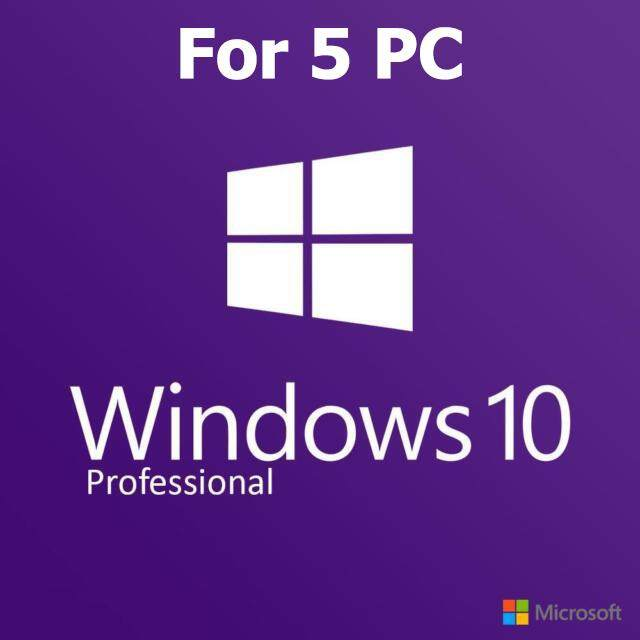 ราคา Microsoft Windows 10 Pro Product Key 32 64 Bit 5Pc ใหม่