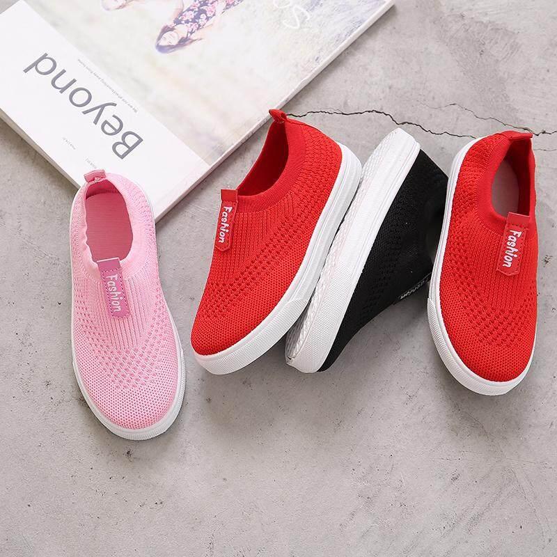 Detail Gambar Sepatu anak laki-laki Musim Semi dan Musim Gugur anak-anak 2018 model baru Gaya Korea Sepatu anak Tembus udara Sepatu besar perawan casual ...