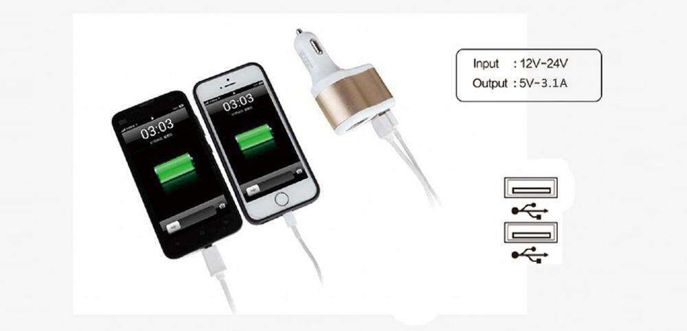 HOCO UC206 USB Car Charger Adapter with 1 Socket Cigarette Lighter