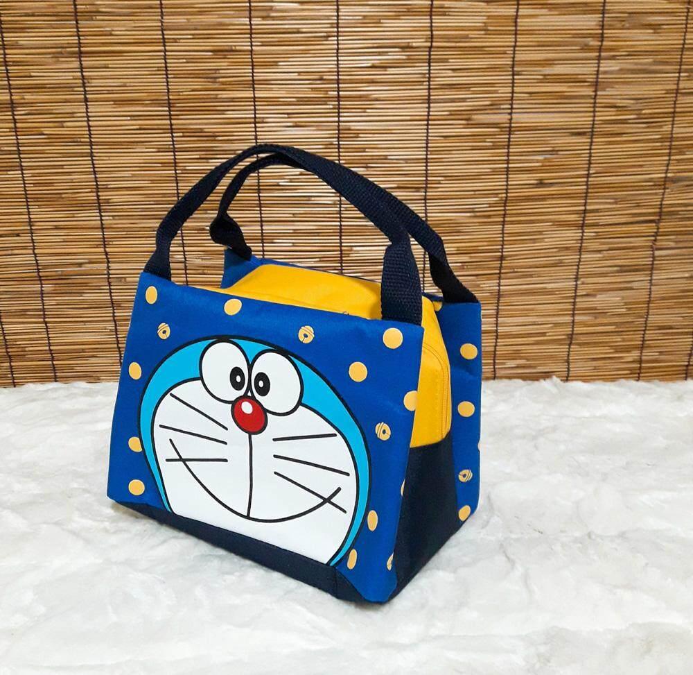 Doraemon Mothercare Bag กระเป๋าเก็บความเย็น-ร้อน, กระเป๋าเก็บอุณหภูมิ, กระเป๋าโดเรมอน สีแดงเข้ม 24*16 Cm ลิขสิทธิ์โดเรมอน 100%.