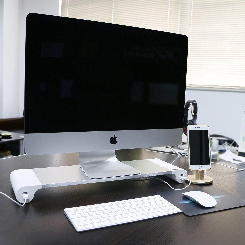 Space Bar (4usb Ports) แท่นวางโน๊ตบุ๊ค แล็ปท็อป Macbook Imac โต๊ะอเนกประสงค์พับได้ Hurricane S By My-Home.