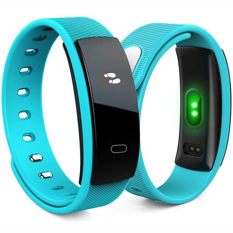 Smartband Bluetooth Bracelet Blood Pressure Pedometer Qs80 Sport Watch นาฬิกาโทรศัพท์ สำหรับกีฬา และสุขภาพ รองรับกับระบบ Android Ios หน้าจอ Led ระบบสัมผัส Bb0056 .