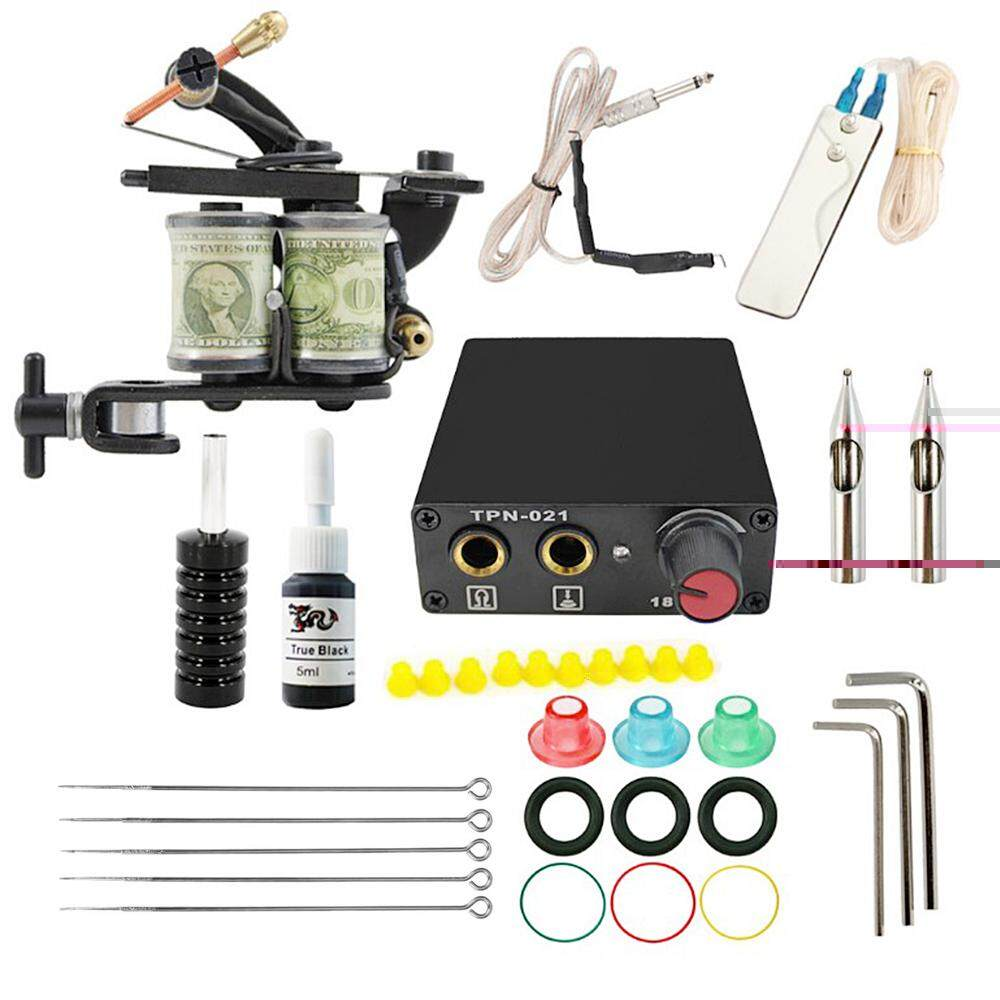 Complete Tattoo Tools Accessories Kit Including Tattoo Machine Needles Inks For Both Professional And Beginners Us Plug - Intl.