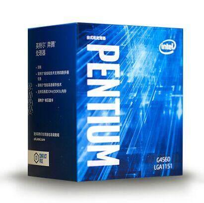 Asli Intel Pentium G4560 Prosesor B Cache 3.50 GHz LGA1151 Dual Core Desktop PC CPU G 4560 Kotak Nampaknya dengan cooler