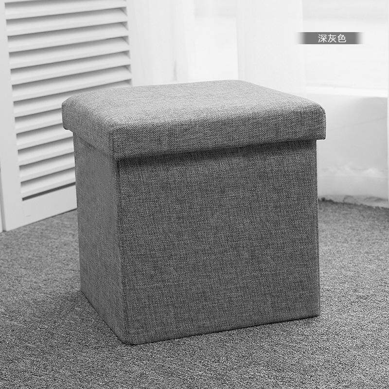 Multi-functional Can Sit People Storage Stool Sofa Folding Fabric Toys Storage Multi-functional Storage Footstool