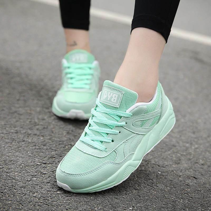 Fashion Diva รองเท้าผ้าใบผู้หญิง Sport Girl สไตล์เกาหลี (สีพื้น).