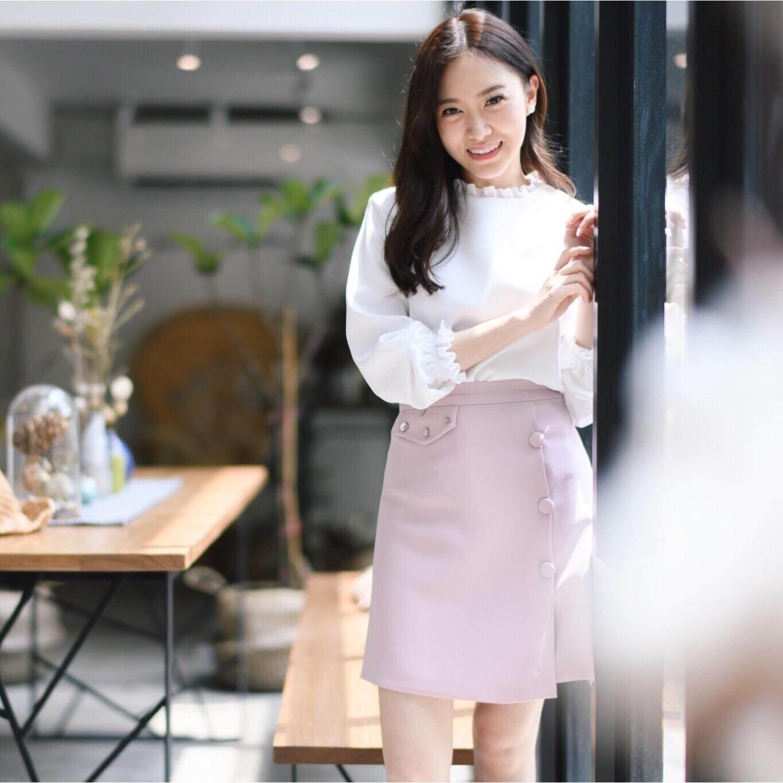 prettythingonme Juice Fizz Skirt -สี Petal pink กระโปรงแต่งคริสตัล เพชรน่ารักๆ รุ่น