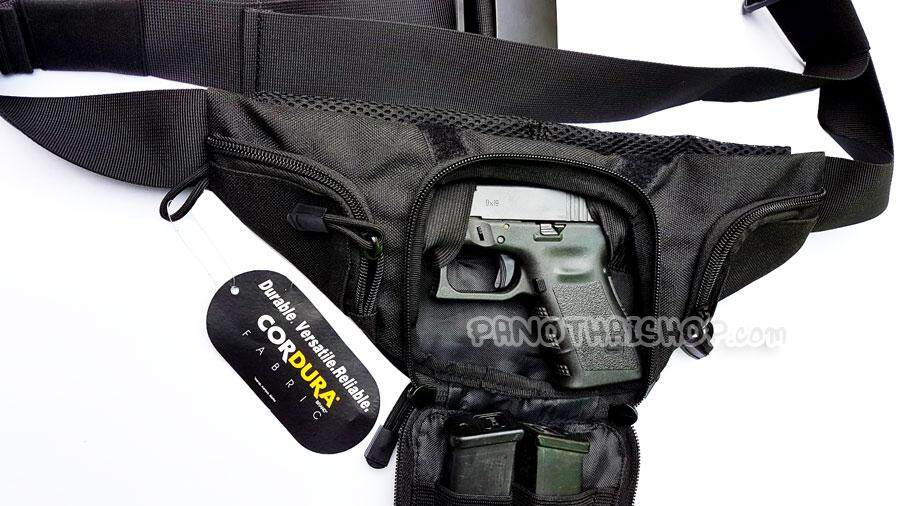 กระเป๋าซ่อนปืนคาดเอว Glock 19,glock26,glock43 , Sig P226-229,cz75dและ Mp94.