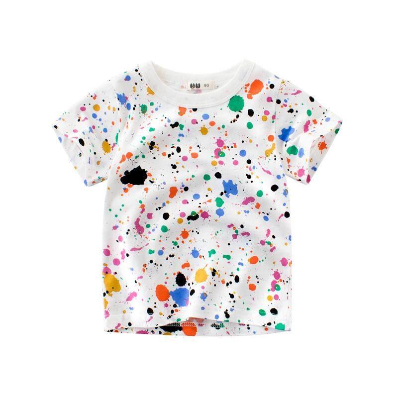 8e3926332a 2019 Summer Korean Style Childrenswear Girl's Short-sleeved T-shirt Children  Base Shirt Pure
