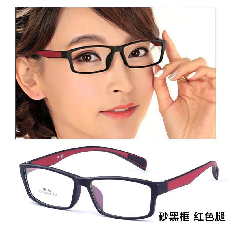 Bentuk persegi bingkai kacamata pria bingkai lengkap Wajah Besar kacamata  minus wanita produk jadi Sangat Ringan 5fa95e24a1