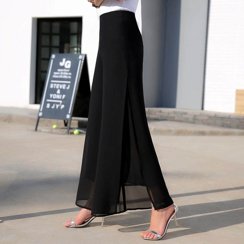 021288e473 2018 New Style Spring And Summer Korean Style Chiffon Loose Pants Female  High-waisted Trousers