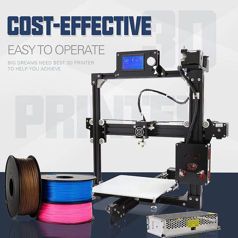 【top Sale】anet A2-2004 Prusa I3 3d Print Machine Diy Kit 1.75mm / 0.4mm Support Abs / Pla Black -Intl.