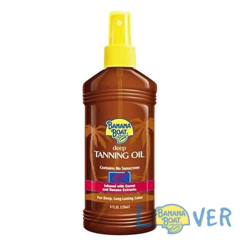 แทนนิ่งออยเปลี่ยนสีผิวแทนทองพร้อมปกป้องจากแสงแดด Banana Boat Deep Tanning Oil Spf2.