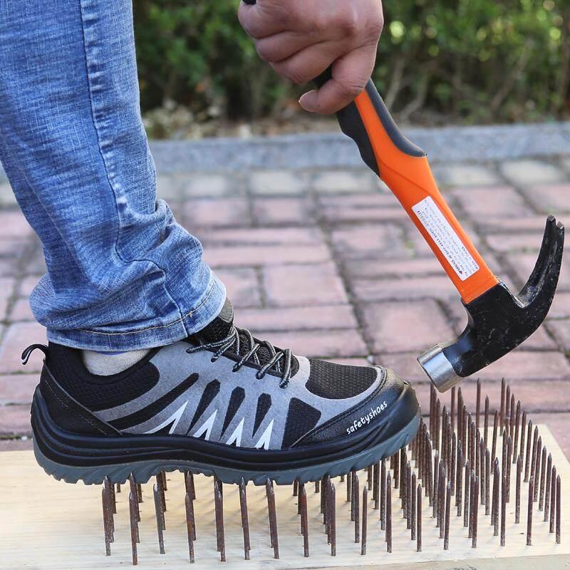 Detail Gambar Item Baru sepatu pengaman Pria dan wanita musim panas tidak  kaki bau Sol sepatu baja Ringan casual Schick Sepatu Anti Tegangan Listrik  6KV ... 910830bc64