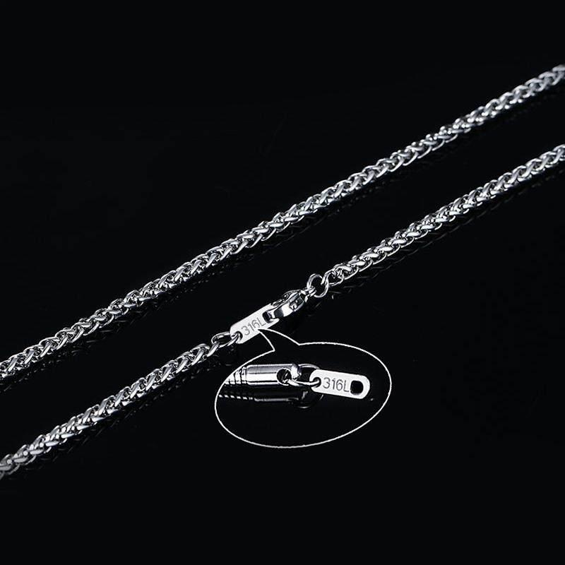 Vnox Pria 'S Rantai Gandum Spiga Link Kalung untuk Pria Perhiasan W/Stamp Lobster