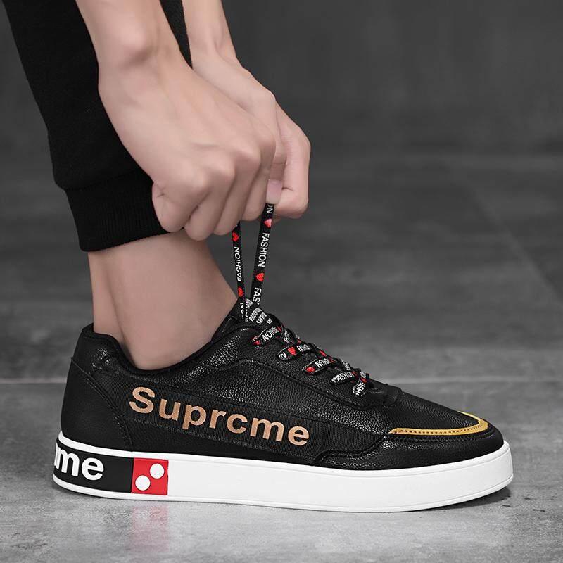 2018 model baru musim gugur sepatu pria Gaya Korea netral sepatu putih  kecil sosial pria sepatu 000db46636