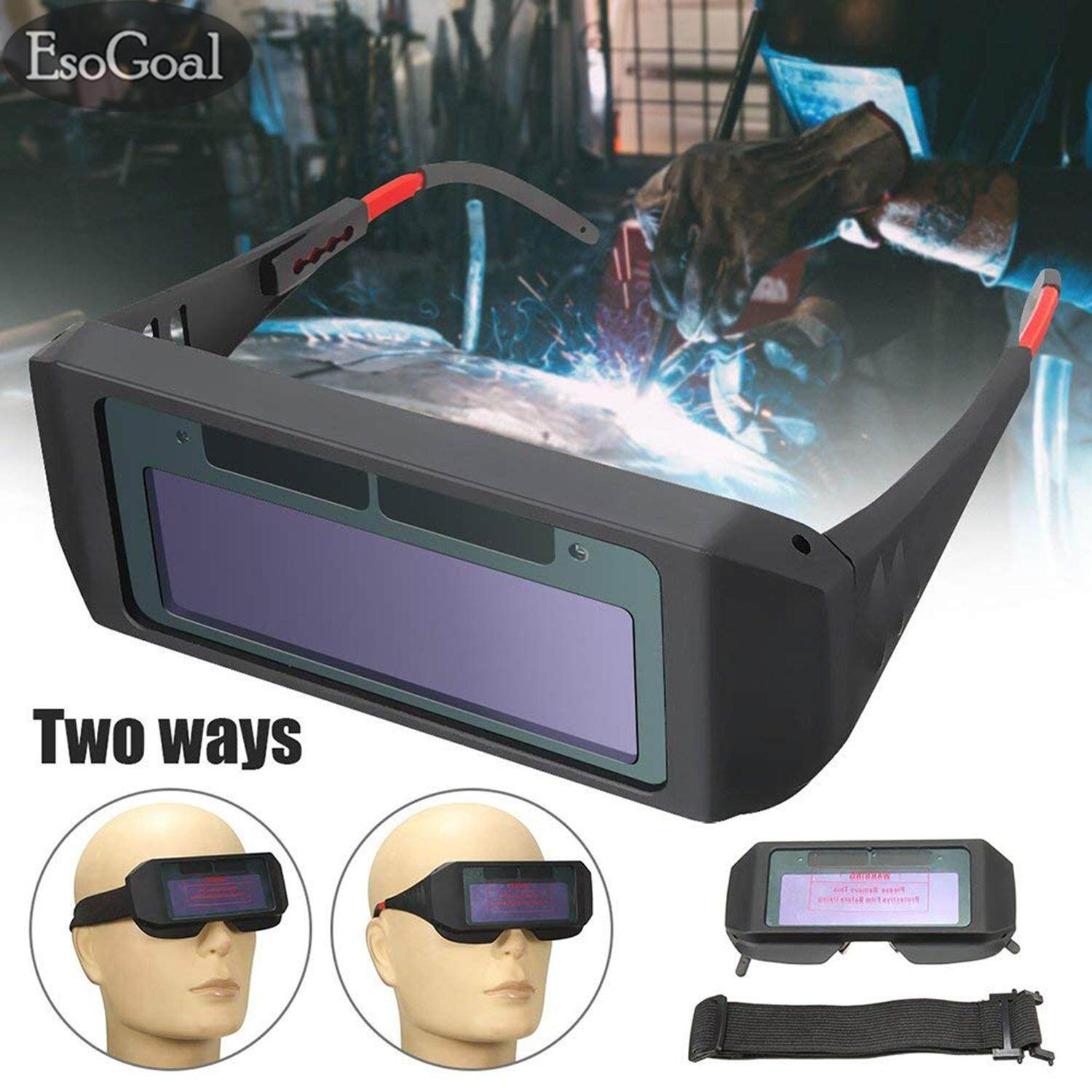 EsoGoal Las Kacamata Welding Tools Solar Welding Mask Auto Darkening Welding Helmet Goggles for Eye Protection