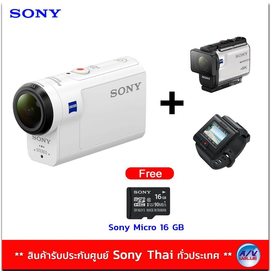Sony Action Camera With Wi-fi รุ่น HDR-AS300R แถมฟรี Sony Micro SD 16gb