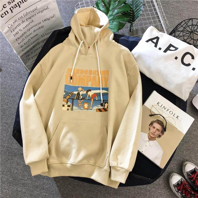 Musim Gugur dan Dingin Model Tipis Kaos Sweater Perempuan Versi Korea Pasang Murid Lengan Panjang Longgar Dalam Super Api Jaket Ulzzang Baju Hoodies