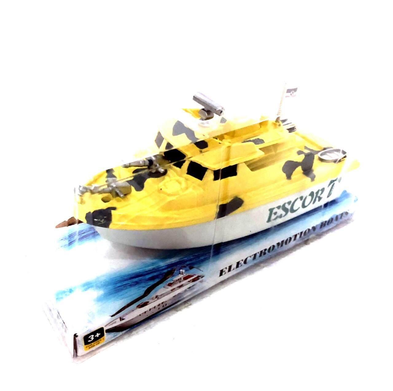 ของเล่น เรือใส่ถ่าน วิ่งในน้ำ สามารถเล่นในอ่างอาบน้ำได้ ขนาด 7*20*9 Cm.  .