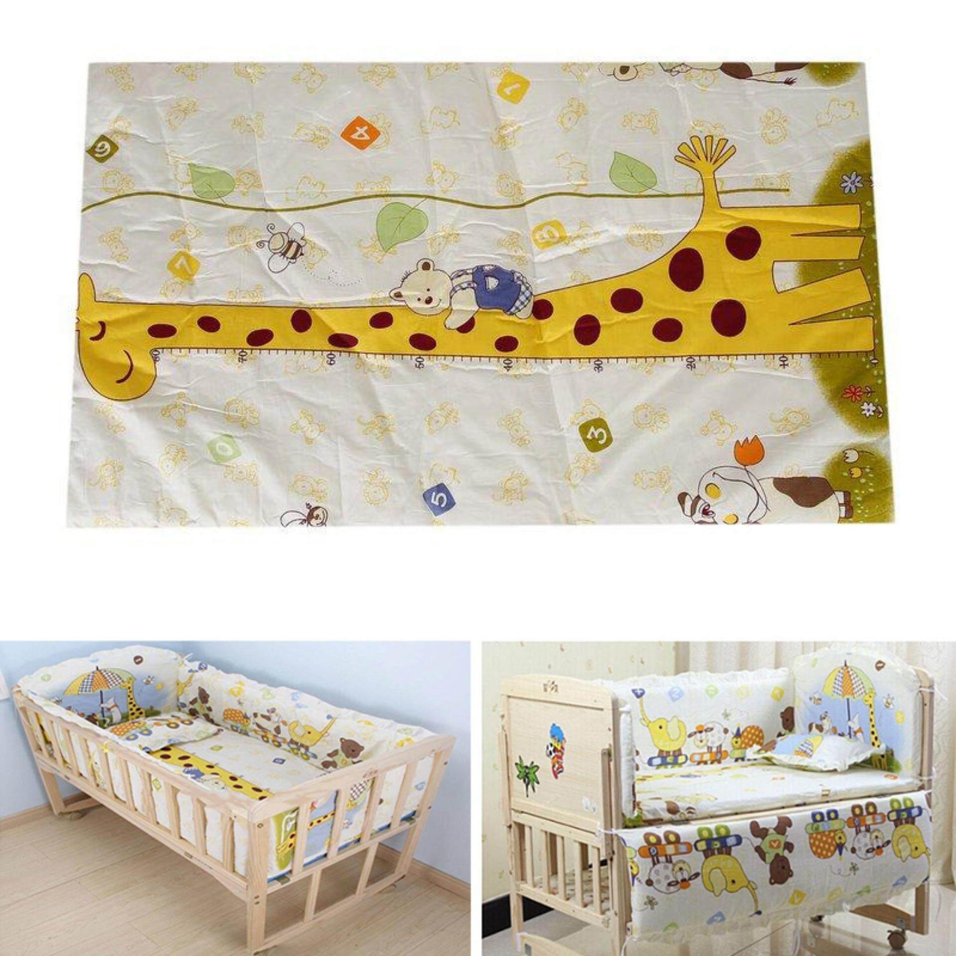 100*58 เซนติเมตร 5 ชิ้น/เซ็ตผ้าฝ้ายนุ่มสำหรับทารกตาข่ายชุดหมอนชุดเครื่องนอนเด็ก.