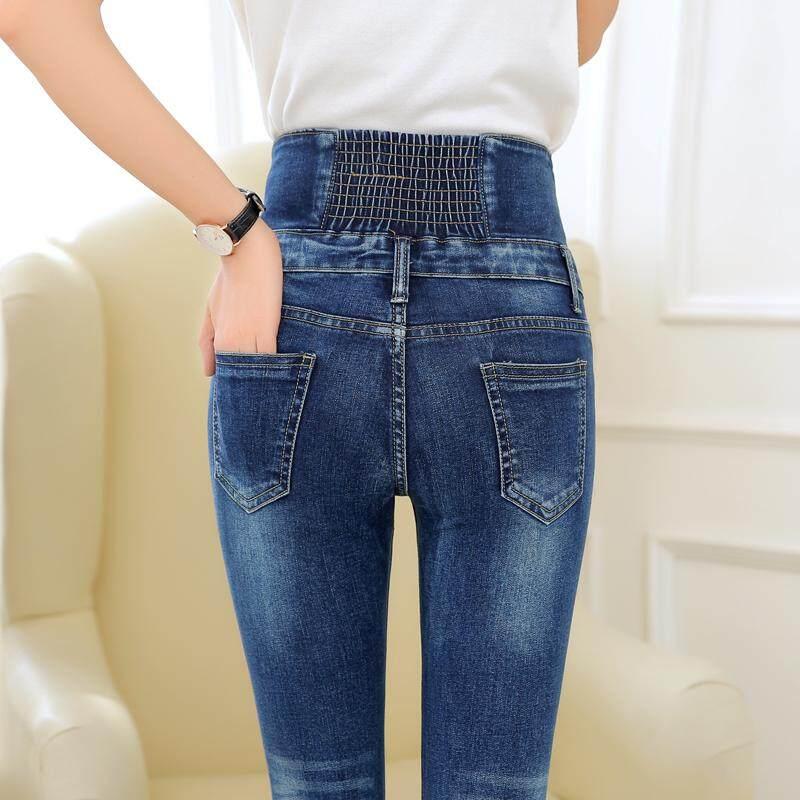 Celana Panjang Jeans Slim Fit High Waist Slimming Wanita Lankelisha