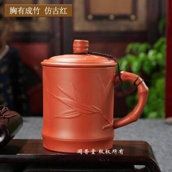 Harga Penawaran Pasir ungu Cangkir teh buatan tangan Keramik Ada Tutup Kungfu cangkir tanah liat minum