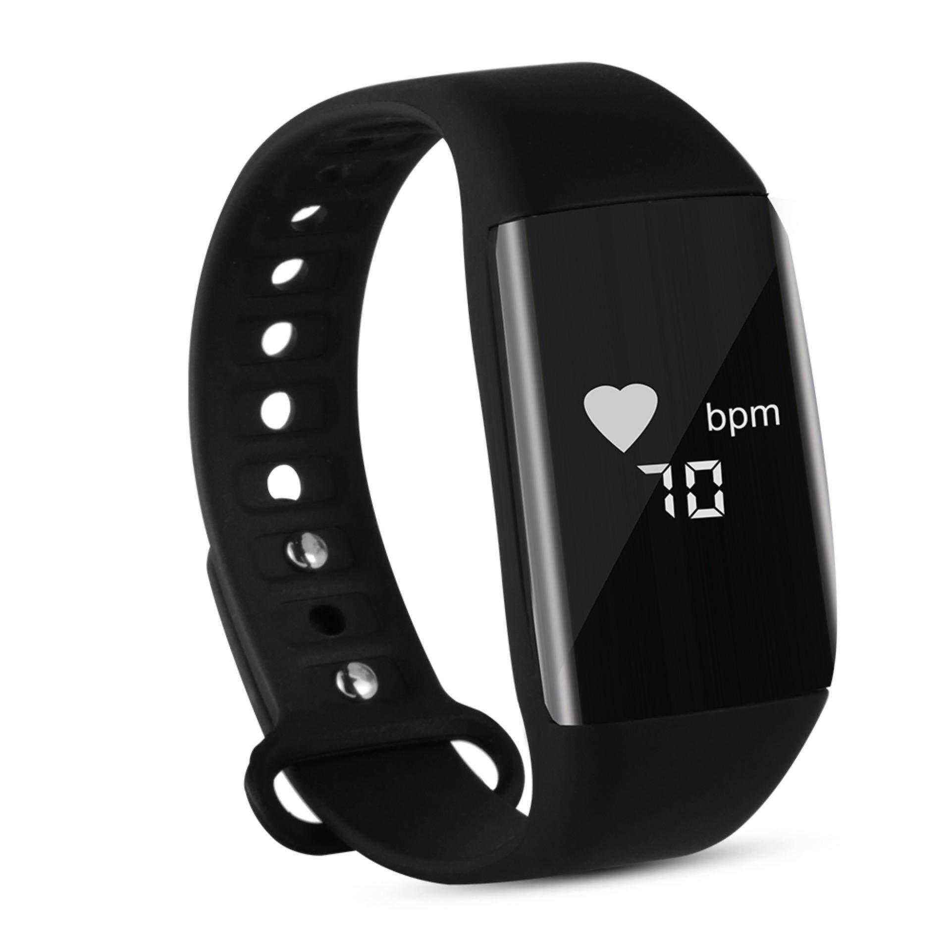 สายรัดข้อมือสุขภาพ นาฬิกาสมาร์ทสปอร์ต วัดอัตราการเต้นของหัวใจ วัดการนอนหลับ