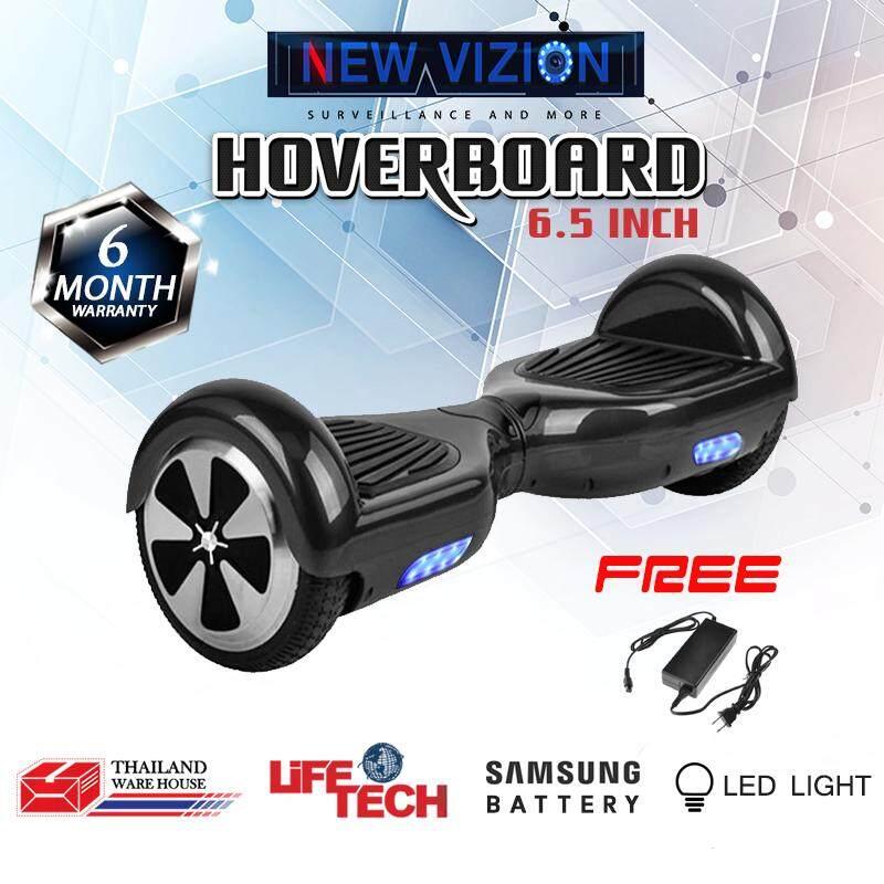 ซื้อ Life Tech 6 5 นิ้ว มินิเซกเวย์ Mini Segway ฮาฟเวอร์บอร์ด Hover Board สมาร์ท บาลานซ์ วิลล์ Electric Scooter สกู๊ตเตอร์ไฟฟ้า รถยืนไฟฟ้า 2 ล้อ มีไฟ Led ฟรี อะแดปแตอร์ Nvizion ถูก
