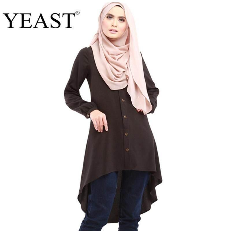 cb2f13352eb19d Baizhu Yeast New Muslim Blouse Islamic Clothing Turkish For Dubai Top  Malaysian Saudi Style Women