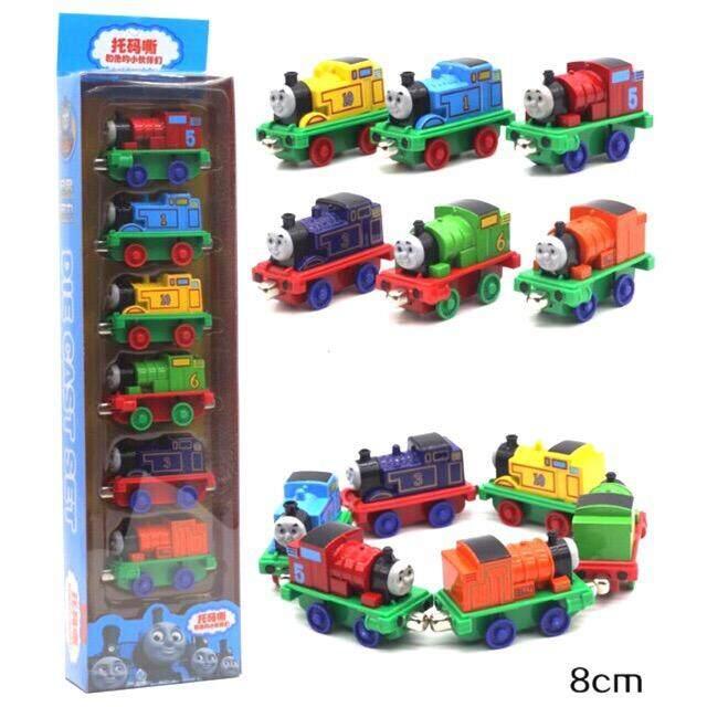 Sale ของเล่น ถูกสุดๆวันนี้ รถไฟโทมัส จีน Thomas 6 คัน เหล็ก เป็นแม่หล็กดูดต่อคันกันได้ รถไฟ หัวเหล็ก.