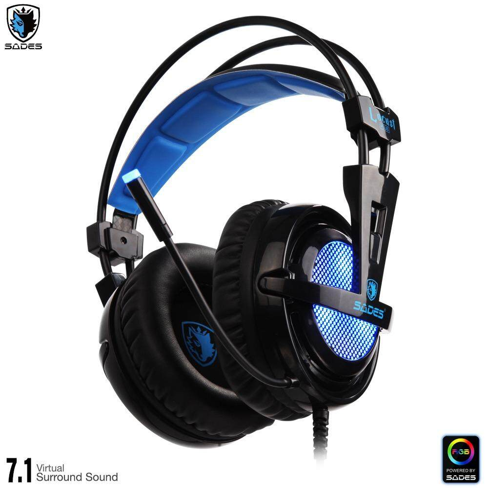 Sades Locust Plus Gaming Headset With 71 Virtual Surround Tpower Sa 701 Sound Rgb Light Usb Port