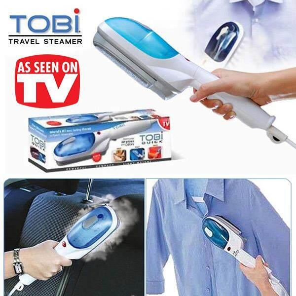 Zxk - Tobi เครื่องรีดผ้าไอน้ำ เตารีดผ้า รีดผ้าเรียบเนียน แบบพกพา สีฟ้า-ขาว.