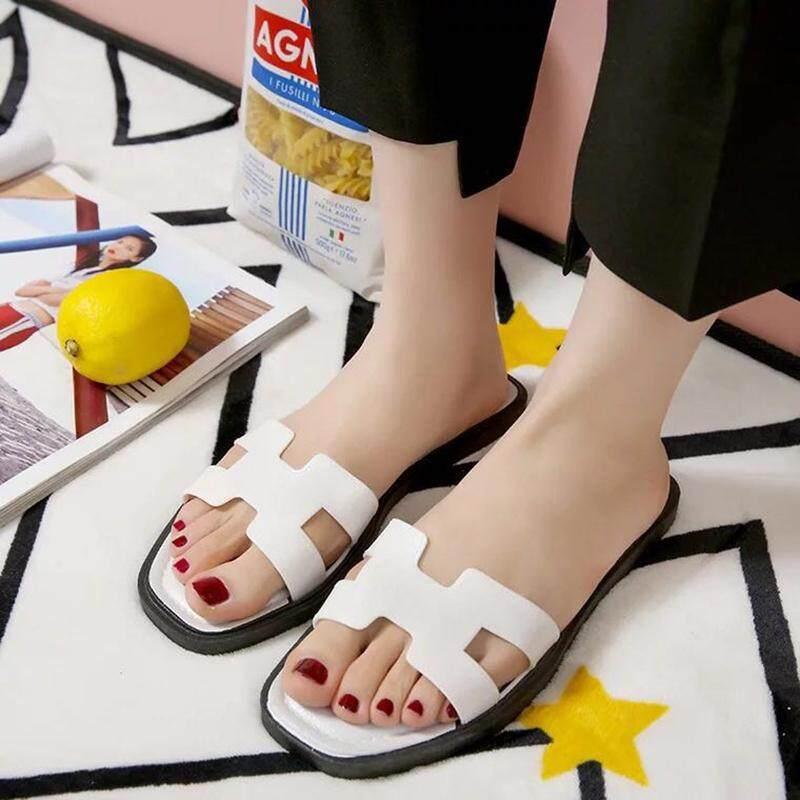 Fashionรองเท้าแตะแฟชั่นและรองเท้าแตะสวมใส่สบายๆ แบบแบนรองเท้าสตรี 1825.