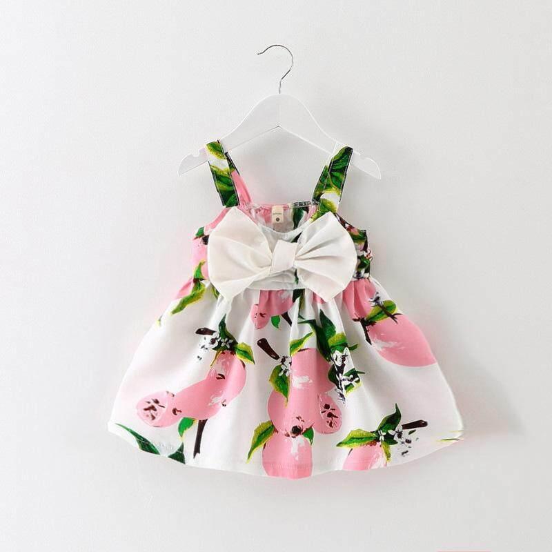 092976319408 Childrenswear Girls Dress 0 Summer 1-2-3-Year-Old Children Baby