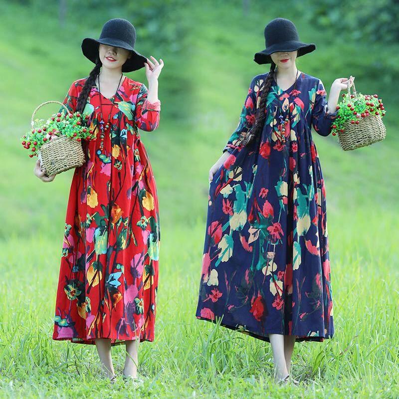 MIMZF Retro baju Wanita 2018 musim gugur model baru longgar ukuran besar model tipis Ayunan Besar