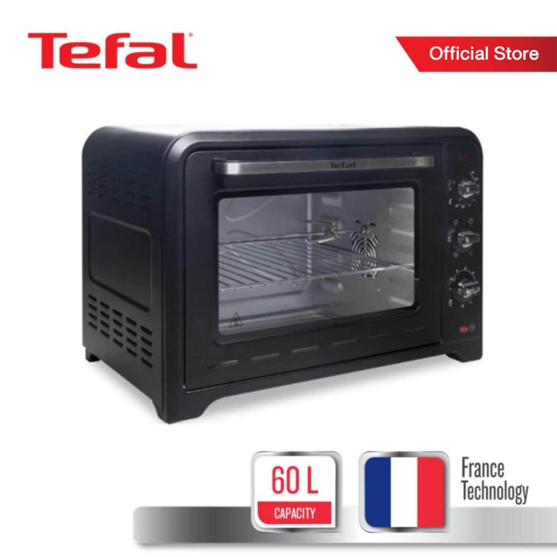Tefal เตาอบ Oven Optimo กำลังไฟ 2,400 วัตต์ ขนาดความจุ 60 ลิตร รุ่น Of4958 -Black.