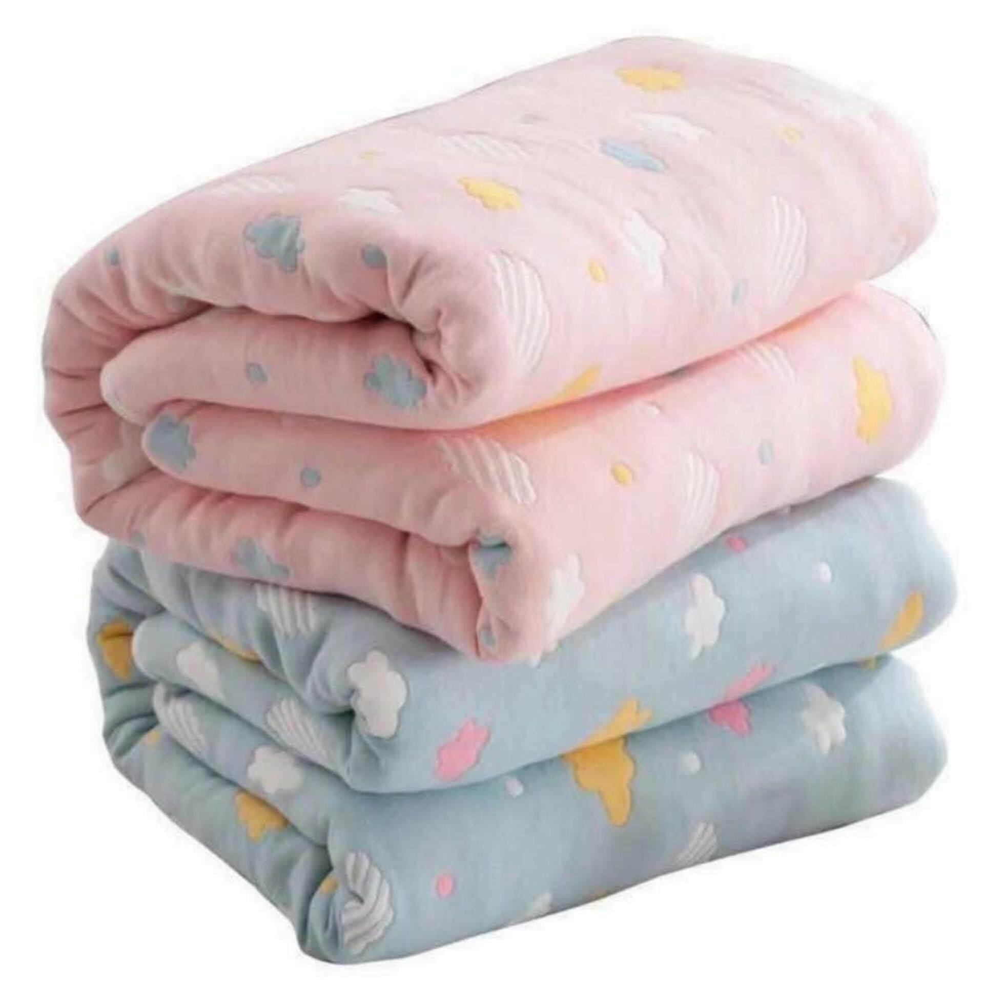 ผ้าห่มผ้าฝ้ายญี่ปุ่น สำหรับเด็กทอลายทั้งผืน.