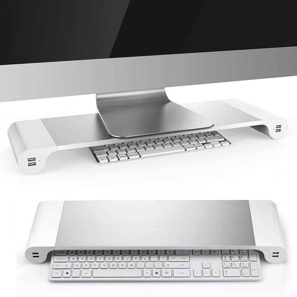 แท่นวางคอมพิวเตอร์ Space Bar (4usb Ports) แท่นวางโน๊ตบุ๊ต แล็ปท็อป Macbook Imac ยูเอสบี4ช่อง สวยงามตามสไตล์ By Top Gadget.