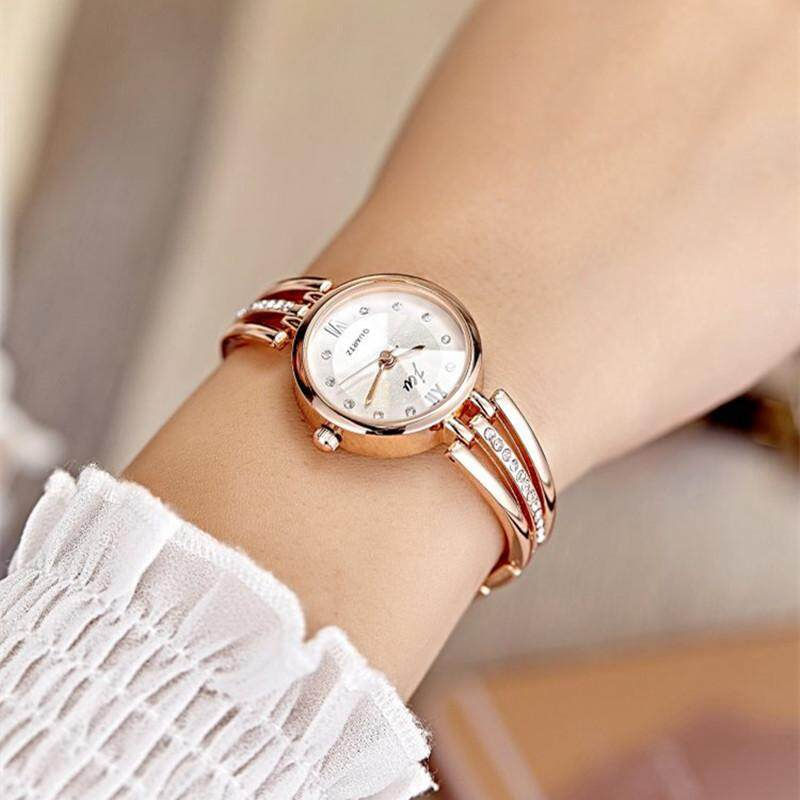 ELEC New Fashion Rhinestone Watches Women Luxury Brand Stainless Steel Bracelet watches Ladies Quartz Dress Watches reloj mujer Clock Malaysia