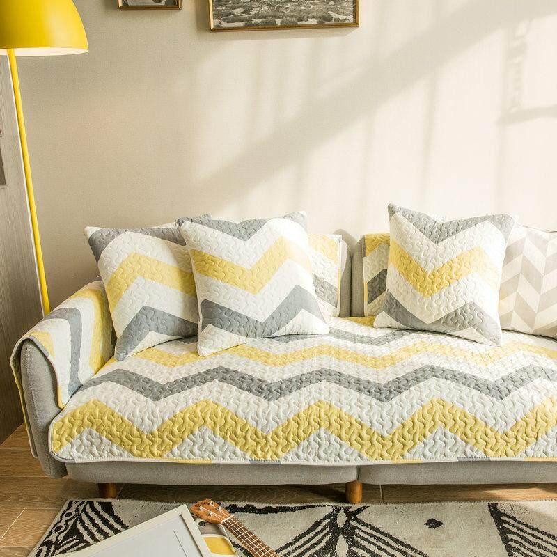 Cotton Sofa Pad Nordic Minimalist Four Seasons Anti-slip Fabric Sofa Covers Full Cover Fabric Universal Skin Sofa throw pillow