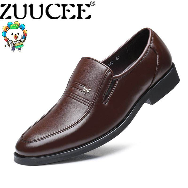 ZUUCEE Fashion Pointed Leather Shoes Men Casual Business Formal Shoes Slips Shoes【Free Shipping】