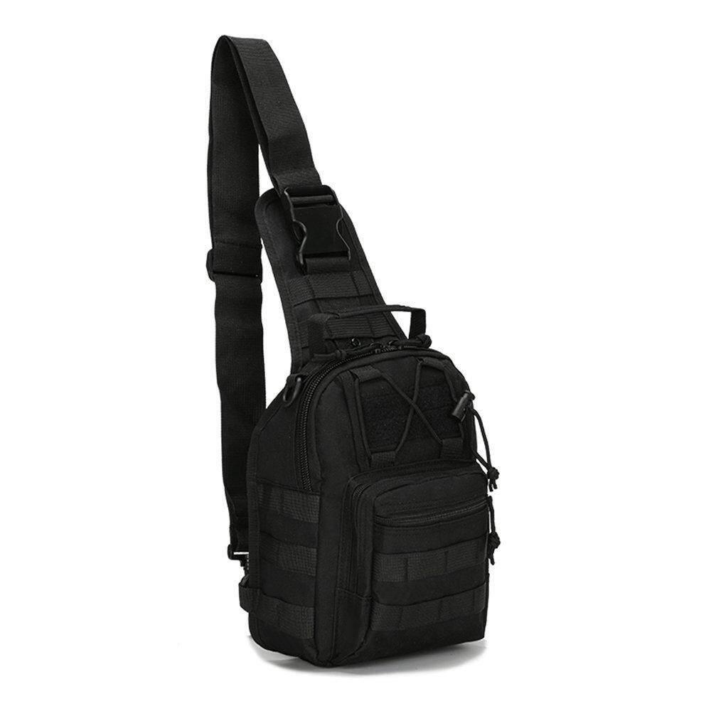 Jvgood Tactical Sling Bag Outdoor Chest Pack Shoulder Backpack Military Sport Bag For Trekking Camping Hiking Rover Sling Daypack For Men Women ถูก
