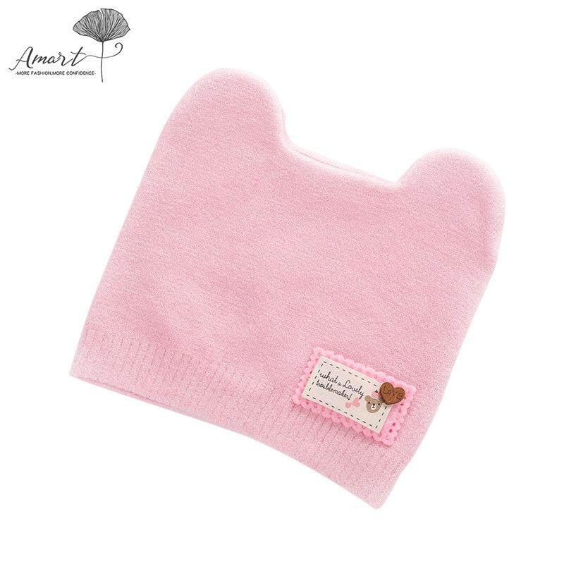 56b76baa6dd13 Amart Children Winter Warm Knitted Beanie Cap Cute Cat Ear Decoration Soft  Beanie By Amart.